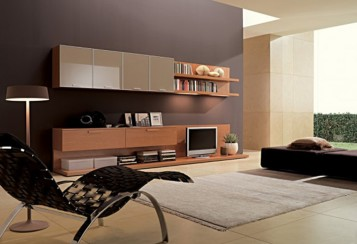 Living room interior designs the contemporary