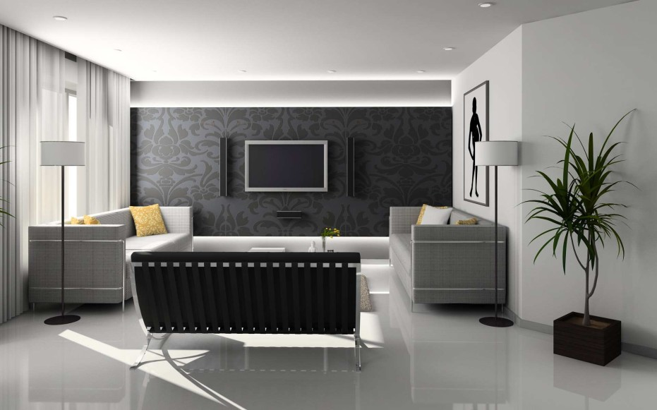 Modern contemporary living room interior designs spotlats for Modern living room design ideas 2013