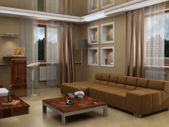 Stylish living room design interior