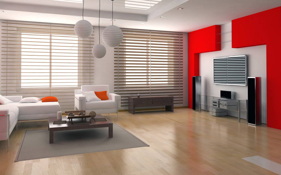 Ultra Modern And Stylish Living Room Design With Colorful Tone