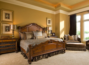 Bedroom design ideas for luxury with wooden bedding