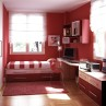 colorful-red-paiting-ideas-for-teenage-bedroom