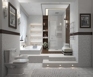 Contemporary modern bathroom design ideas