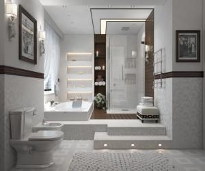 Contemporary modern bathroom design ideas