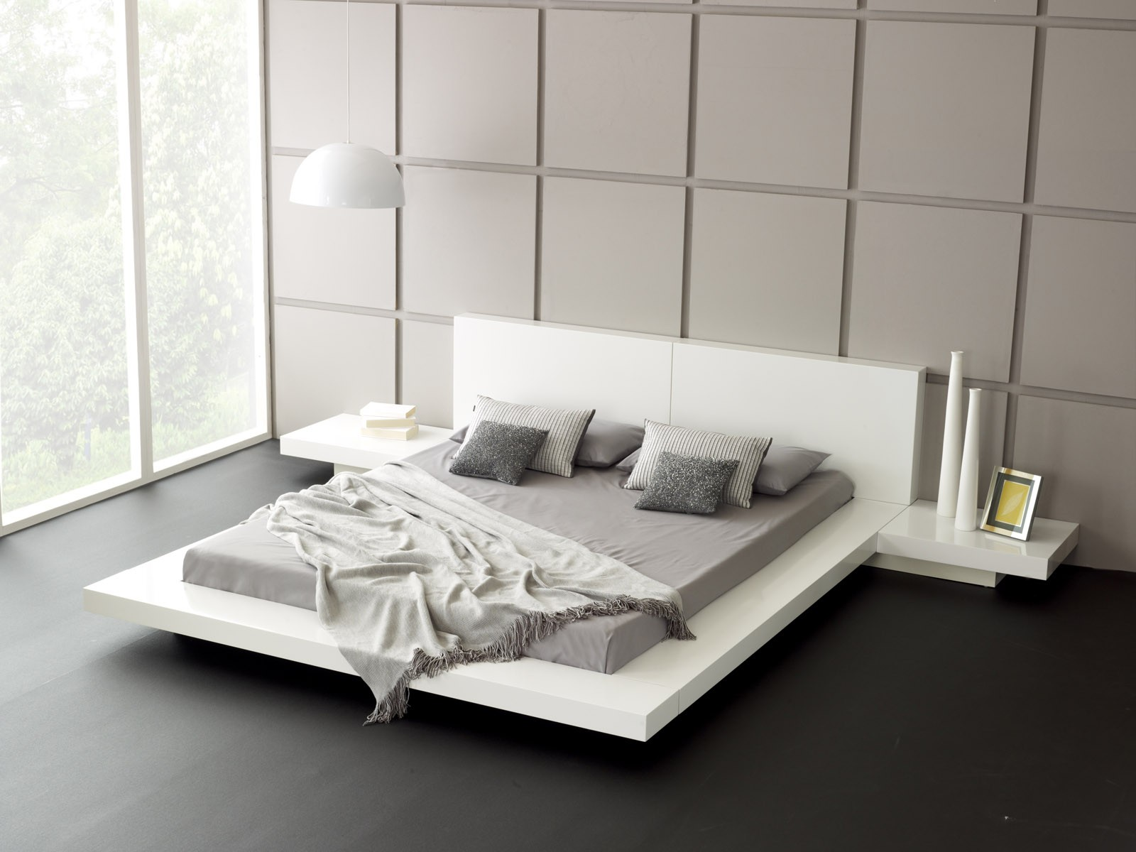 contemporary white bedroom designs