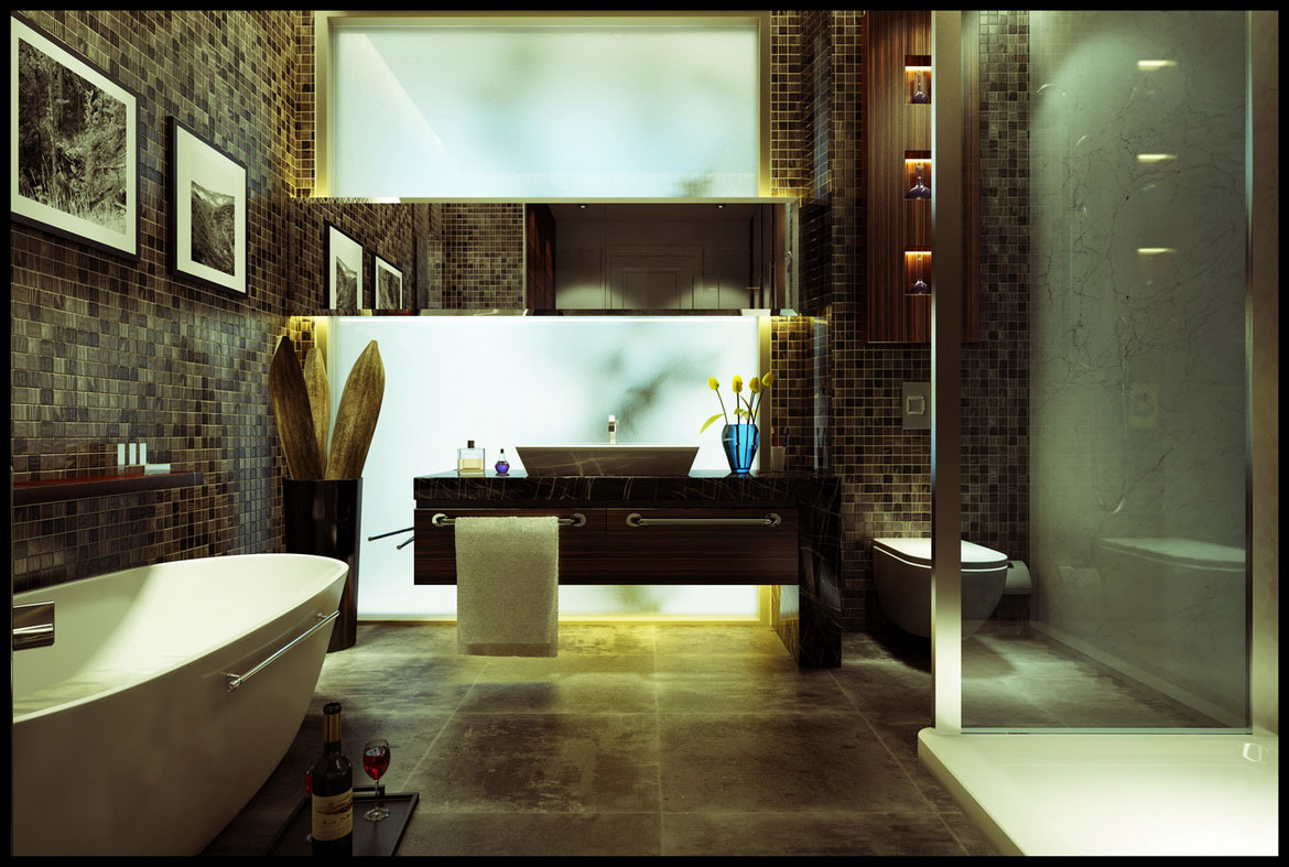 Exotic bathroom design ideas 4 spotlats for Bathroom mosaic design