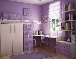 Fancy purple teenage bedroom painting ideas