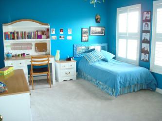 Fresh blue bedroom painting ideas