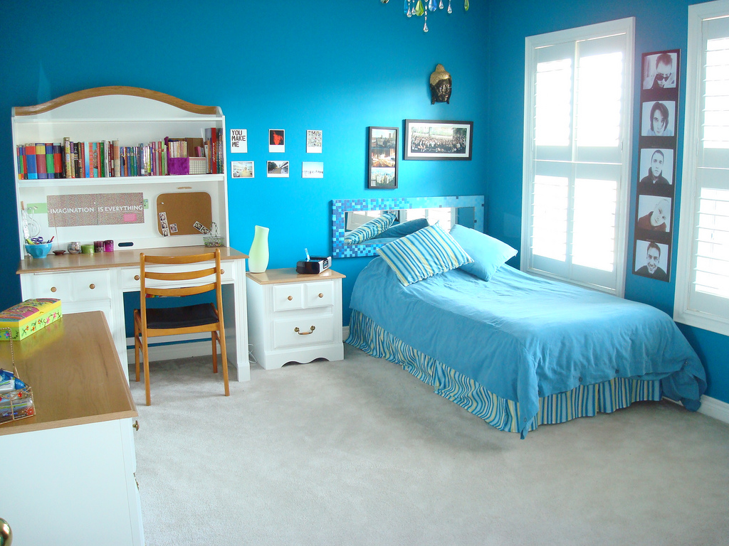 fresh blue bedroom painting ideas
