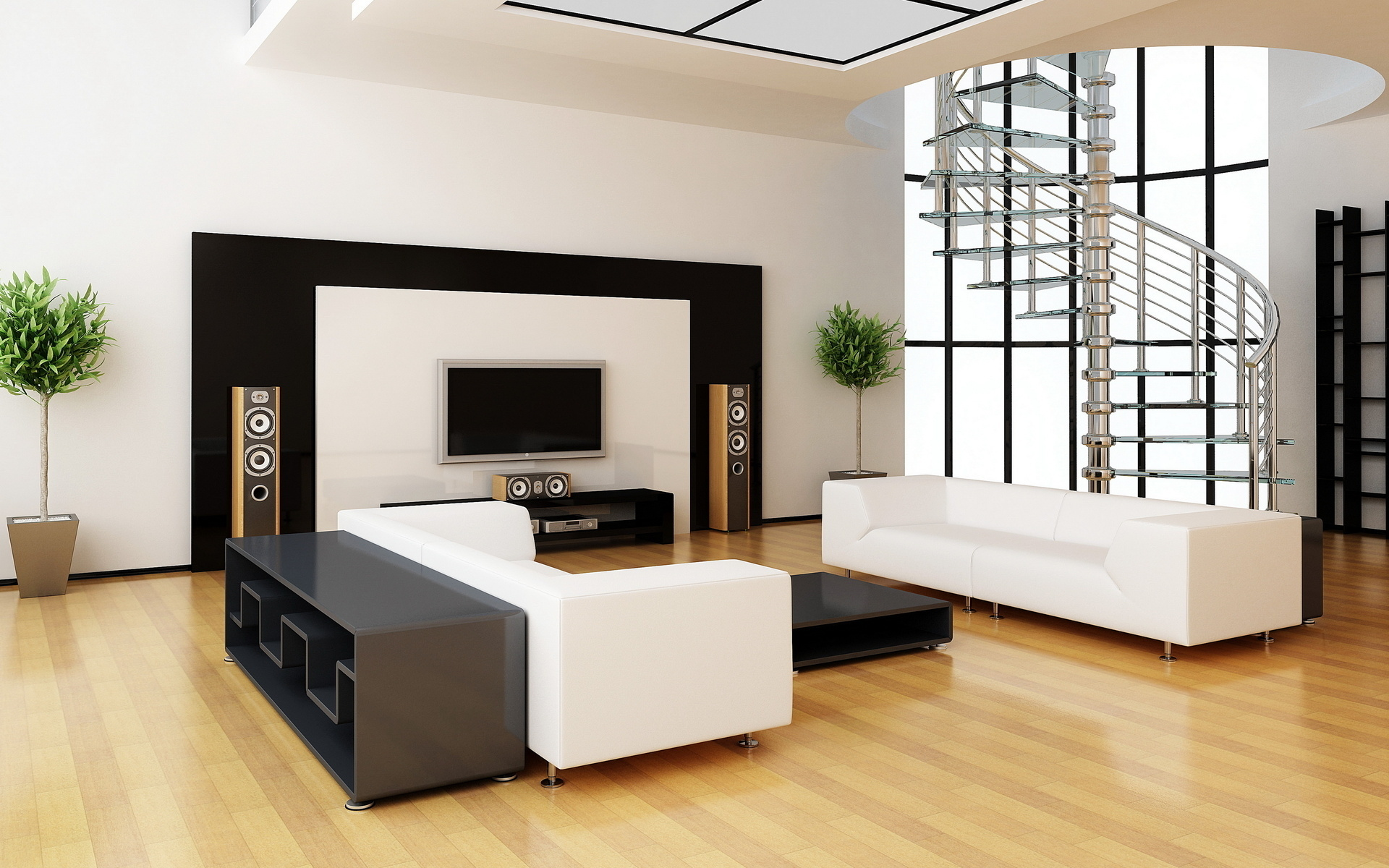 minimalist interior design for living room 2