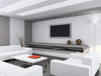 Minimalist interior designs for modern living room