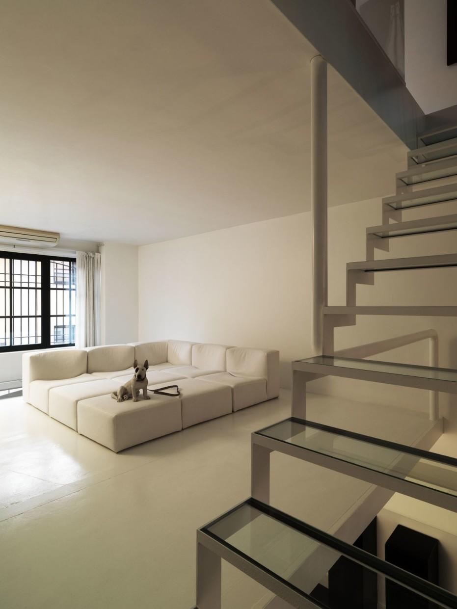 Minimalist Sofa And Stairs