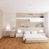 Modern White and Cream Interior Design of Bedroom