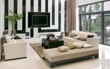Modern and trendy living room design