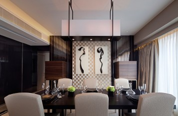 Modern asian exotic dining room