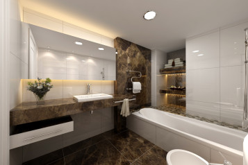 Modern bathroom marble designs