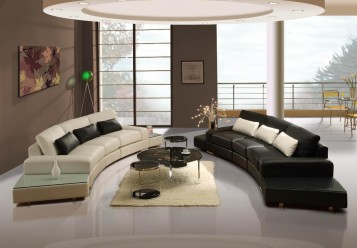 Modern living room design with nice sofas