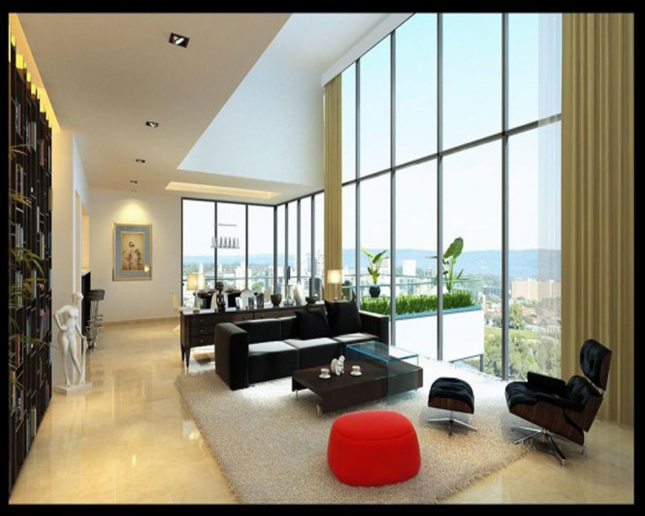 Modern Living Room For Home And Apartment