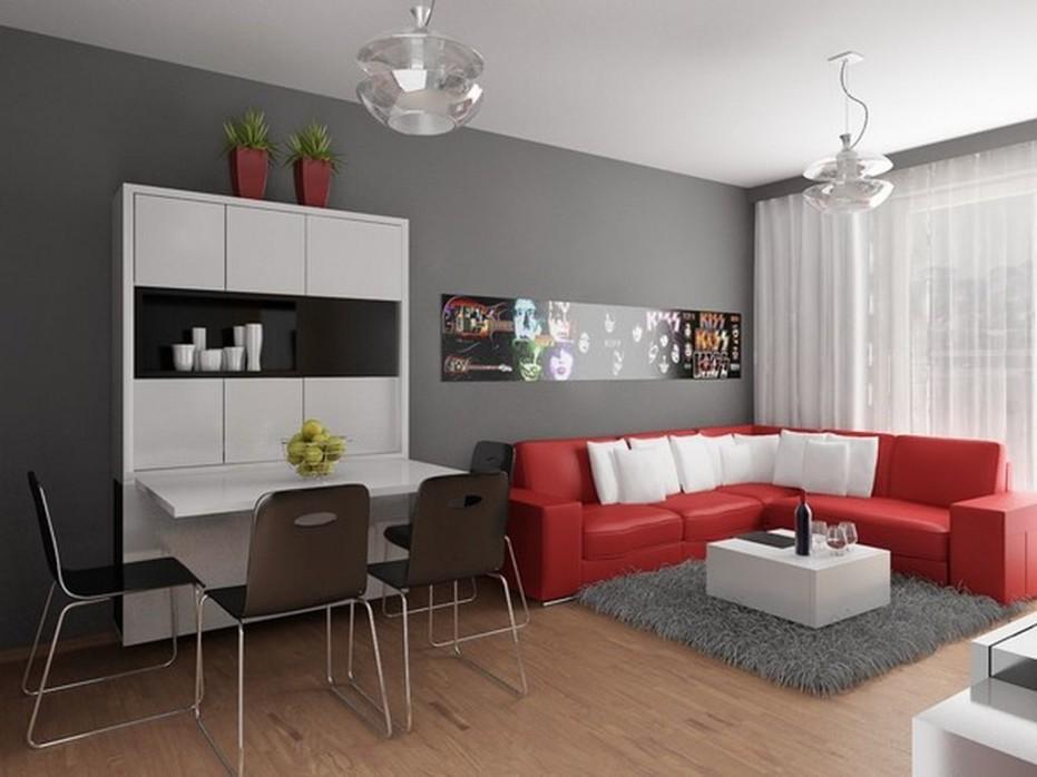 Modern Small Apartment Interior Design 033