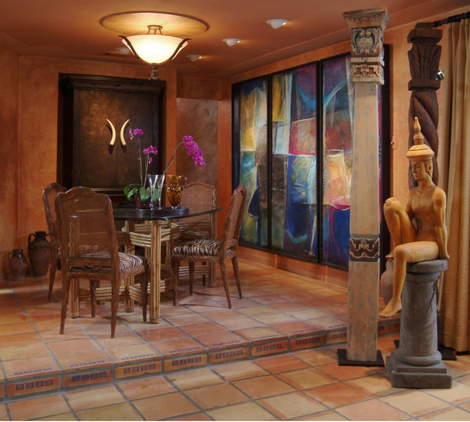 Exotic Dining Room Design: A Blissful Touch From The