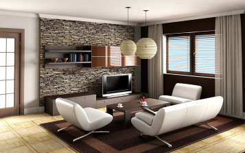 Simple modern living room interior design