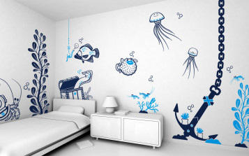 Teenage bedroom painting ideas and decoration