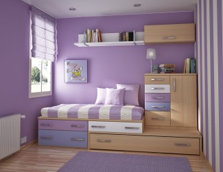 Teenage bedroom painting ideas purple