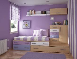 Teenage bedroom painting ideas purple
