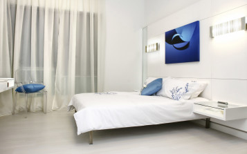 White bedroom design interior 1