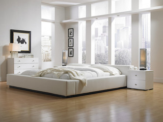 White bedroom designs with nice furniture