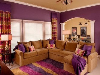Color Schemes for Living Rooms Purple
