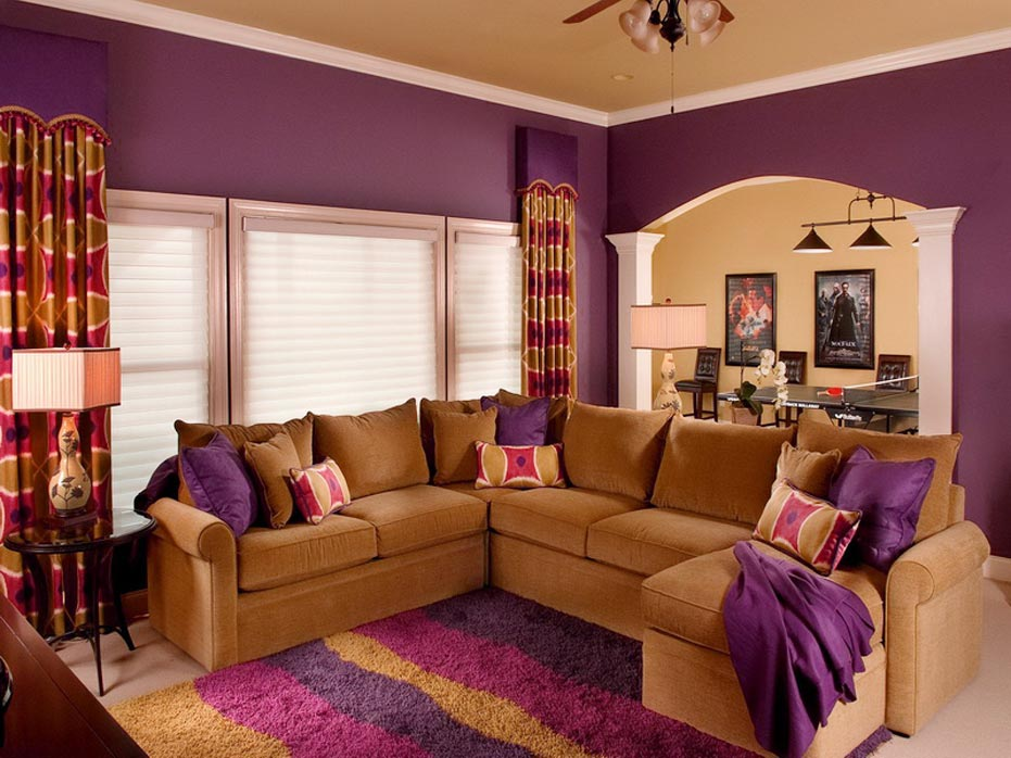 color schemes for living rooms purple spotlats. Black Bedroom Furniture Sets. Home Design Ideas