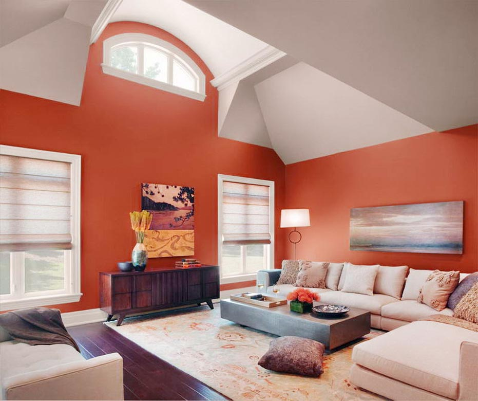 Color Schemes for Living Rooms brown color