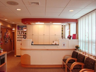 Chiropractic office interior design