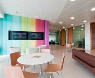 Chiropractic office interior idea