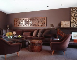 Color schemes living rooms dark furniture