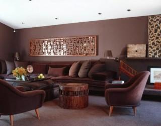 Color schemes living rooms dark furniture