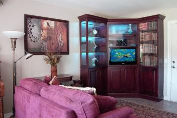 Corner bookcase cabinet classic