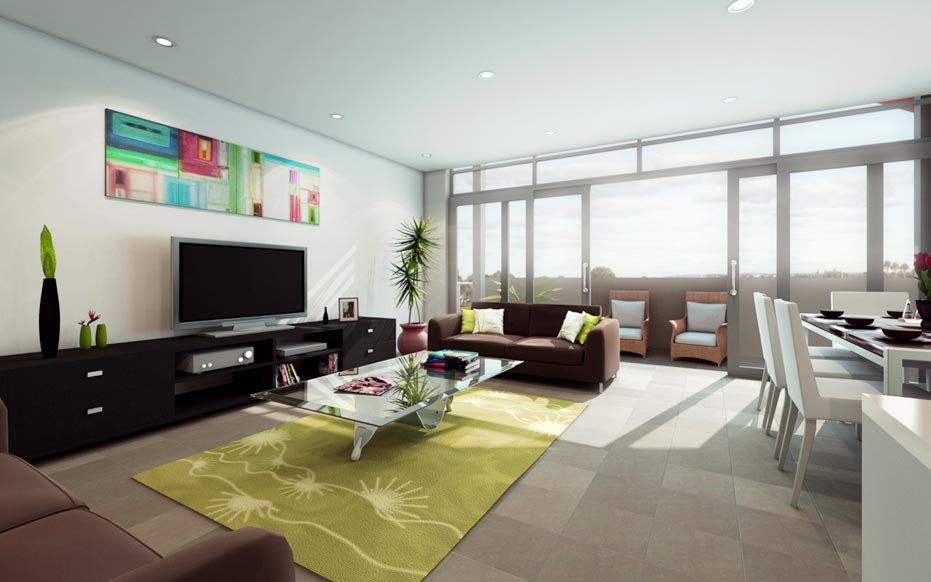 green large living rooms design