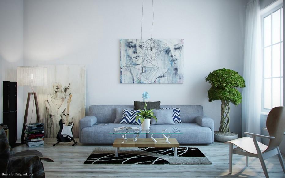 Modern Artistic Living Room