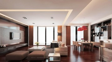 Modern decoration large living room