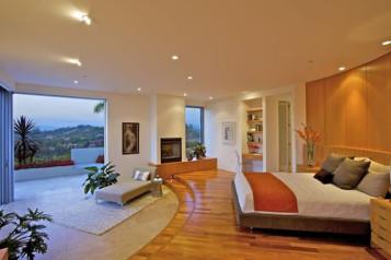 Natural bedroom design interior