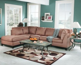 Paint color schemes living rooms with brown furniture