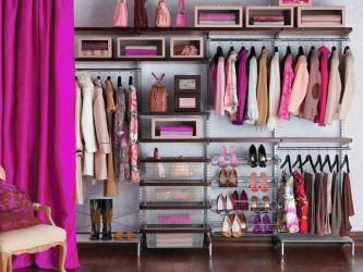 Pink closet organizing ideas