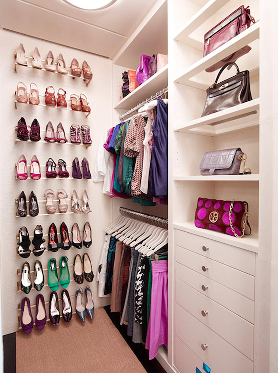 shoes and clothes walk in closets