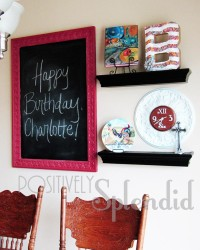 Simple wall and Decorative Chalkboards