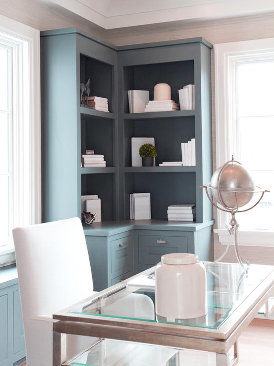 Small Corner Bookcase Cabinet
