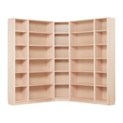 White corner bookshelf ikea