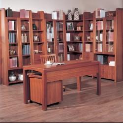 Wood classic corner bookcase cabinet