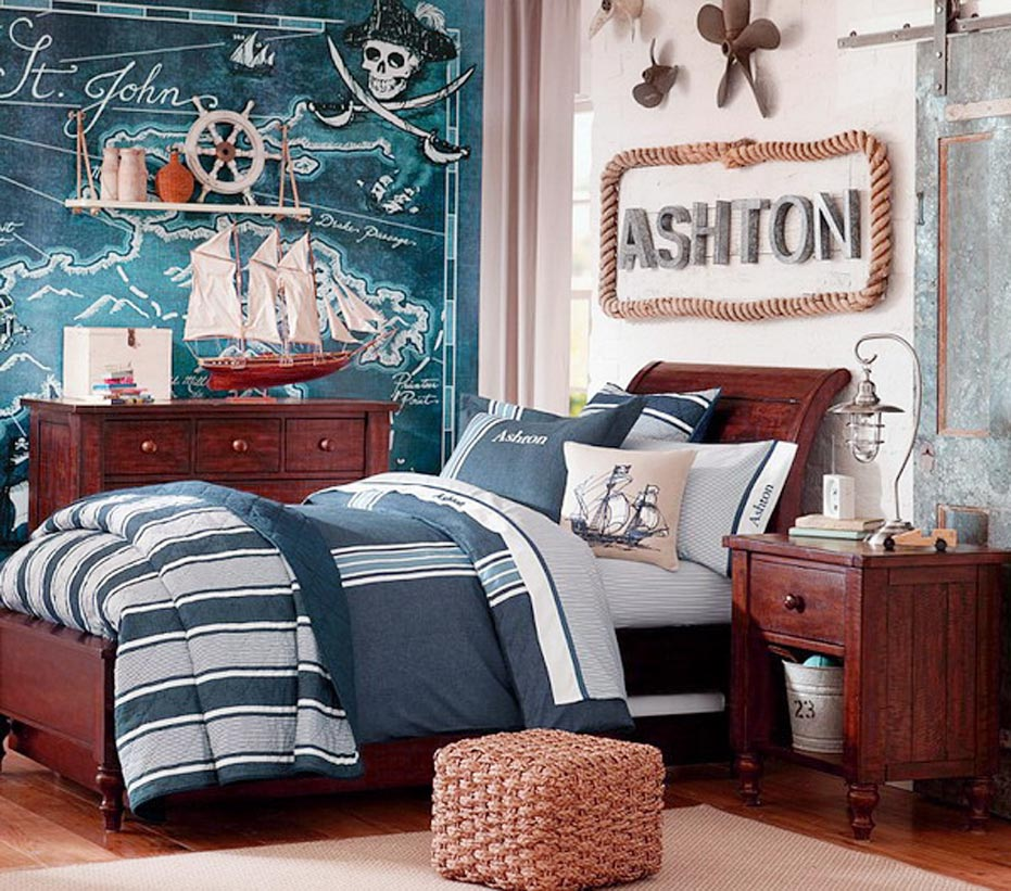Boys Room Design within Pirates Bedroom Theme